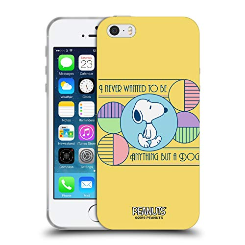 Head Case Designs Ufficiale Peanuts Cane Snoopy Sogni Deco Cover in Morbido Gel Compatibile con Apple iPhone 5 / iPhone 5s / iPhone SE 2016
