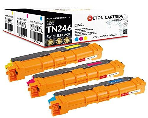3 Original Reton Toner je 2.800 Seiten Cyan Magenta Yellow, kompatibel zu TN-242c TN-242m TN-242y für Brother HL 3142cw 3152cdw 3172cdw MFC-9332cdw 9142cdn 9342cdw DCP-9022cdw
