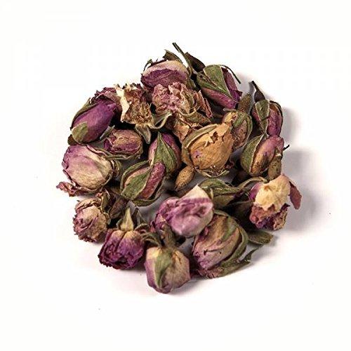 Herbis Natura Rosenknospen rosa Knospen ganz, aus biologischem Anbau, Damaszener Rose, Rosa damascena (100 Gramm)