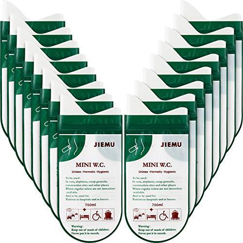 16 Stücke Einweg Urin Taschen Camping Pipi Taschen Tragbare Urinal Tasche für Camping Reisen Klettern Stau Urinal Toilette Auto Notfall Toilette Pipi Tasche für Männer Frauen Kinder Patient (Grün)