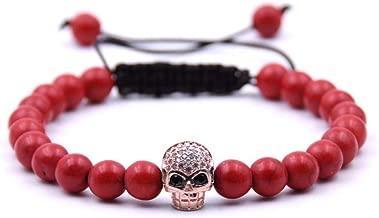 Zgrjiueryi armband van steen, doodshoofd-accessoires, armband, turquoise