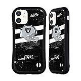 Head Case Designs Licenza Ufficiale NFL Casco Aspetto Sdrucito 100esimo Las Vegas Raiders Logo Art Cover Ibrida Compatibile con Apple iPhone 12 Mini