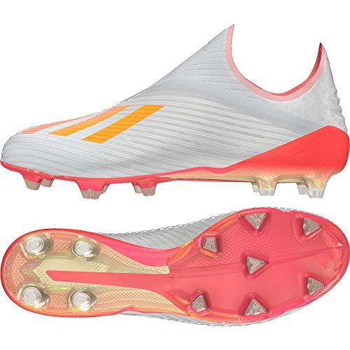 adidas X 19+ FG, Bota de fútbol, Silver Metallic-Hi Red-White, Talla 7.5 UK (41 1/3 EU)