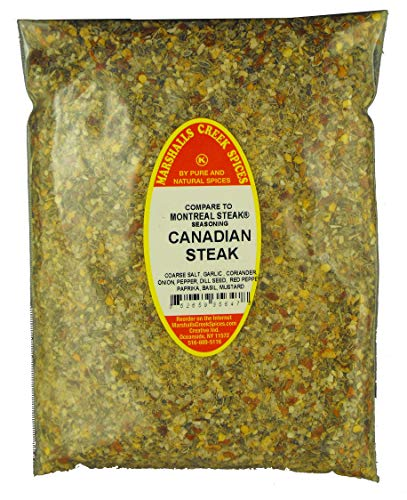 CANADIAN STEAK SEASONING - REFILL- (compare to Montreal Steak Seasoning FRESHLY PACKED IN FOOD GRADE HEAT SEALED POUCHES 13 oz