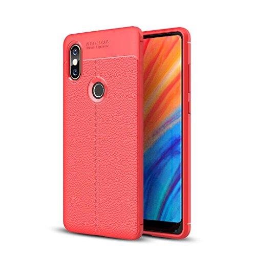 Funda® Firmeza y Flexibilidad Smartphone Carcasa Case Cover Caso para Xiaomi Mi Mix 2S(Rojo)