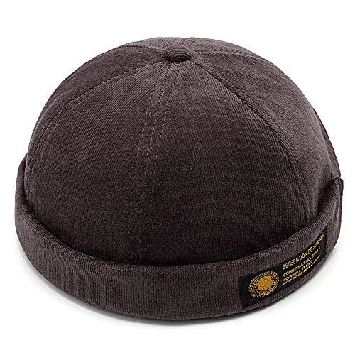 YAMEE Docker-Cap Docker Mütze Seemannsmütze Hafenmütze Bikercap Basecap ganzjährig Tragbar Hat (Kaffee)