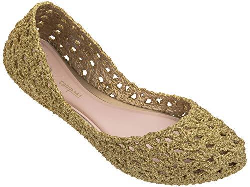 melissa Ballerina Donna Forata MOD 32246 Campana Crochet AD Made in Brazil (EU 39 - USA 8 - UK 6, 51800 Oro Glitter)
