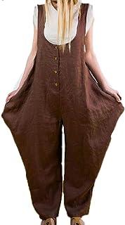 per donna casual Vonda con gambe larghe Salopette estiva