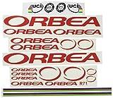 Ecoshirt FR-E3M9-NXL9 Pegatinas Orbea R71 Vinilo Adesivi Decal Aufkleber Клей MTB Stickers Bike, Rojo