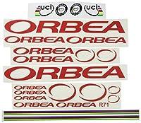 Ecoshirt FR-E3M9-NXL9 Stickers Orbea R71 Vinyle Adhésifs Decal Aufkleber - Rouge