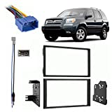 Compatible with Honda Pilot 2006 2007 2008 Without OE NAV Double DIN Stereo Harness Radio Dash Kit