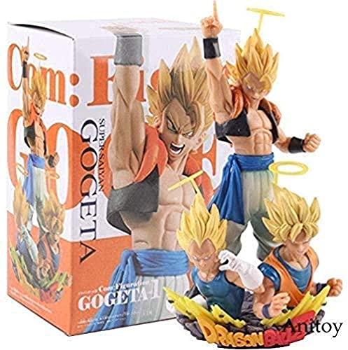 Dragón Ball Z Com: figurativo gogeta Figura Super Saiyajin Hijo Goku y Vegeta y Gogeta Figuras PVC Dragon Ball Colección Modelo Juguete Regalo de cumpleaños SKH3107