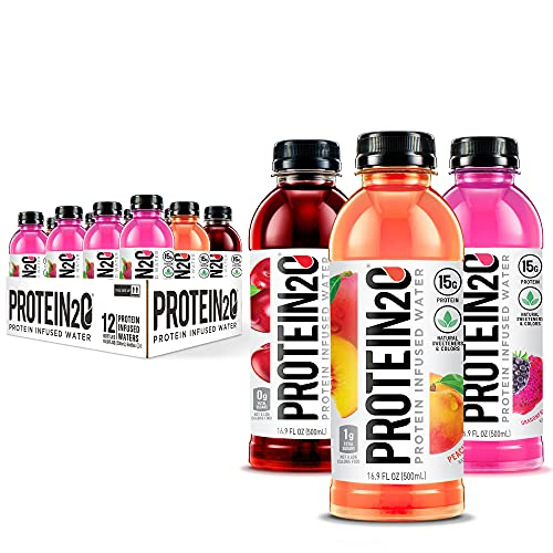 Protein2o 15g Whey Protein Infused Water, Flavor Fusion Variety Pack,...