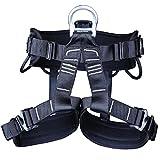Hainice Cinturón de Seguridad del Cuerpo de la protección del arnés de Escalada Cinturón de Seguridad del Cuerpo para el montañismo Rescate Rock Escalada Negro