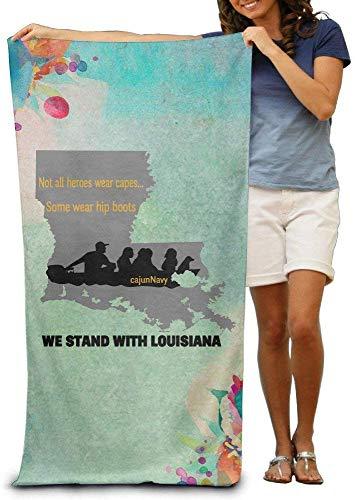 Toalla de playa xcvgcxcvasda, We Stand with Louisiana Cajun Navy Louisiana Floods31 x 51 pulgadas piscina toalla playa