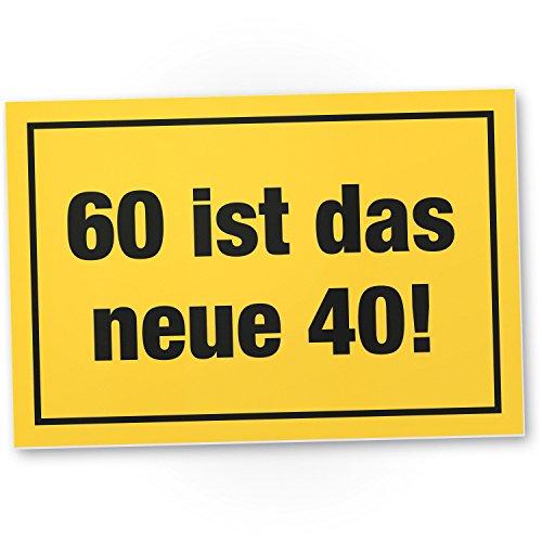 Bedankt! 60 is het nieuwe bord met 40 pvc, cadeau 60. Pvc-verjaardagsbord, cadeau-idee verjaardagscadeau voor de zestigste, verjaardagsdecoratie, feestaccessoires, verjaardagskaart