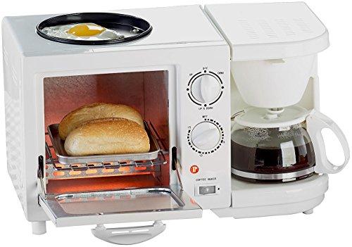 Rosenstein & Söhne Mini Ofen: Kompakter 3in1-Frühstücksofen, 1.150 Watt (Backofen)
