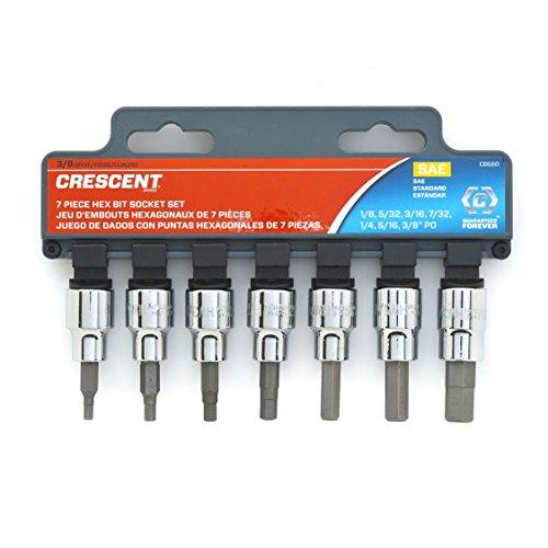 Crescent CBSS0 7 Pc. 0.375- Inch Drive SAE Hex Bit Socket Set
