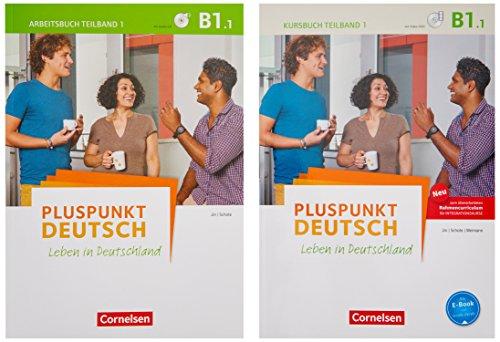 Pluspunkt Deutsch - Leben in Deutschland - Allgemeine Ausgabe / B1: Teilband 1 - Arbeitsbuch und Kursbuch (2. Ausgabe) 120773-1 und 120581-2 im Paket