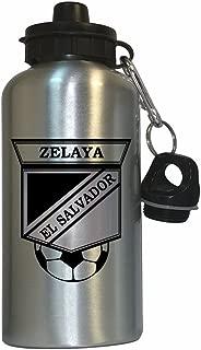 Custom Image Factory Rodolfo Zelaya (El Salvador) Soccer Water Bottle Silver