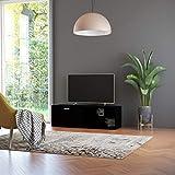 vidaXL Mueble para TV Salón Comedor Mesa Televisión Televisor Equipo de Música Armario Bajo Almacenaje Soporte de Aglomerado Negro 120x34x37cm