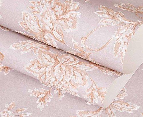 LJXWH Gravure 3D Fond De Papier Peint Non Tissé Papier Peint Le Salon De Style Européen Chambre Confortable,Pink
