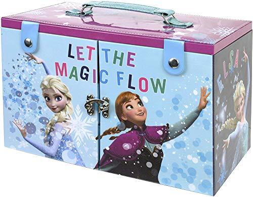 Frozen De La Reina De Hielo Makeup Maletín - Neceser Frozen, Set de Maquillaje para Niñas - Maquillaje Frozen - Selección de Productos Seguros en un Maletín de Maquillaje