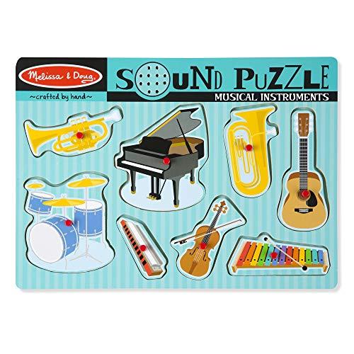 Melissa & Doug- Puzzle Sonore-Instruments de Musique, 10732
