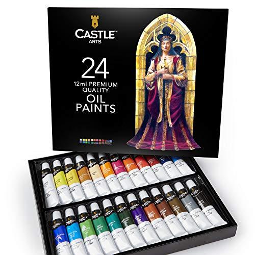 Scatola di colori a olio Castle Art Supplies per artisti o principianti - 24 colori a olio intensi - Confezione per pittura professionale