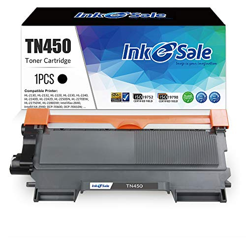 INK E-SALE Compatible Toner Cartridge Replacement For Brother TN420 TN450 1 Pack, Use For Brother Hl-2270DW Hl-2280DW HL-2230 Hl-2240D MFC-7240 MFC-7360N MFC-7460DN MFC-7860DW Intellifax 2840 2940
