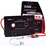 Cassette to Aux Adapter with Smartphone - Car Audio Aux Cassette Adapter, 3.5 mm Adapter for Classic Cars, Compatible with Phone, MP3 ect. 2 Pack