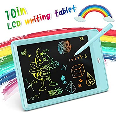 KOKODI LCD Writing Tablet, 10 Inch Toddler Doodle Board Drawing Tablet, Erasable Reusable Electronic Drawing Pads, Educational and Learning Toy for 2-6 Years Old Boy and Girls (Blue)
