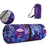 Both Sides Waterproof Picnic Blanket, TOLACCEA 78'x58' Large SandproofBeach Blanket, 3 LayersQuilted Picnic Mat, Portable Machine Washable Foldable Blanket for Camping,Grassland,Beach