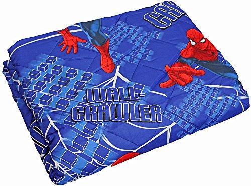 NOVIA Trapuntino Copriletto Quilt Letto Singolo Una Piazza Spiderman Marvel Spider Man 100% Microfibra 100 Grammi (Wall Crawler)