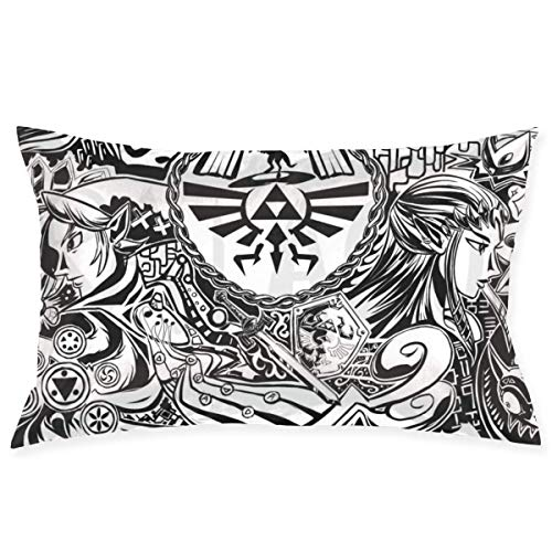 chenshan The Legend of Zelda Throw Pillow Covers Square Plush Pillowcases Decorative Printing Soft for Child Bed Home Modern Cushion pillowslip