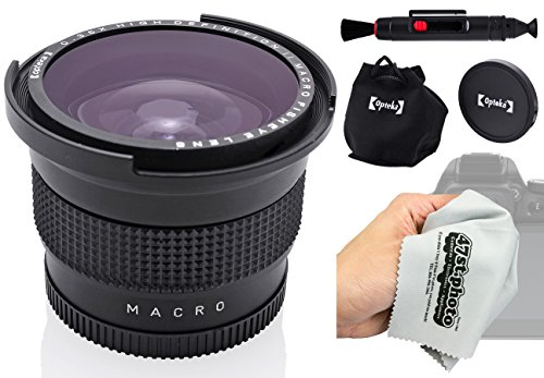 Opteka .35x HD Super AF Wide Angle Fisheye Lens with Macro and Microfiber Cloth for Pentax K-S2, K-S1, K-1, K-500, K-70, K-50, K-30, K5 IIs, K-7, K-5, K-3, K-2, K20D, K100D, K110D Digital SLR Cameras