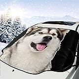 Bearget Parasol para parabrisas de coche Alaskan Malamute, impermeable, para invierno, coche, camión, furgoneta, SUV, personalizable
