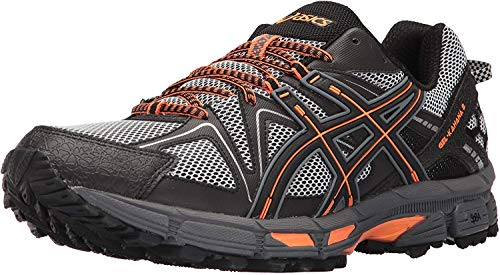 ASICS Men's Gel-Kahana 8 Running Shoe, Black/Hot Orange/Carbon, 14 Medium US