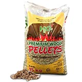 The Chemical Hut Premium CO2 Neutral Low Moisture Long Lasting Wood Pellets For Bio Mass Boiler Heating BSL certified ENplus® - 15Kg - Includes White Woven Sack