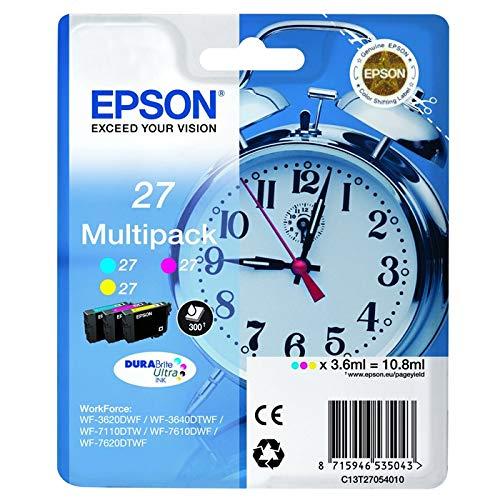 Epson WorkForce WF-3620 WF -Original Epson C13T27054010 / 27 - Cartouche d'encre Pack Promo -3 x 3,6 ml