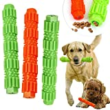 Etrustor 3Pack Dog Toys, Durable Dog Chew Toys for Aggressive Chewers Doggy Brushing Sticks Teeth Cleaner Natural Rubber for Medium Large Breed Dog(Large)