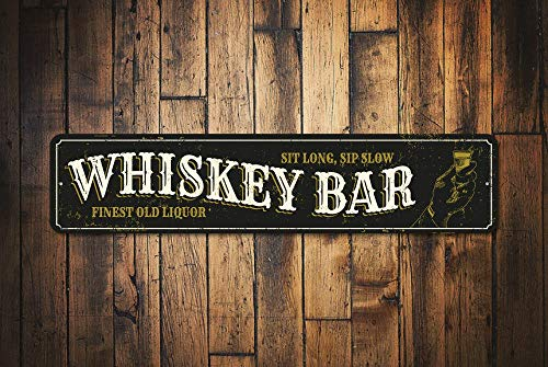 C-US-lmf379581 Whiskey Teken Whiskey Bar Teken Aangepaste Whiskey Decor Whiskey Bar Decor Whiskey Lover Gift Voor Whiskey Bar - Kwaliteit Aluminium