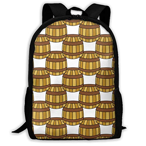 Mochila Escolar Pirate Symbols Barrel Bookbag Casual Travel Bag For Teen Boys Girls