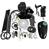MOTOOS 80CC 26' 28' Bike Bicycle Motorized 2 Stroke Cycle Petrol Gas Engine Kit Set (Black)