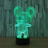 Luz De Noche 3D La Lámpara De Visión Estéreo 3D De Noche De Acrílico Koala...