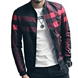 LOGEEYAR Men's Bomber Jacket Casual Slim Fit Printed Fall Winter Outerwear Coat Cool