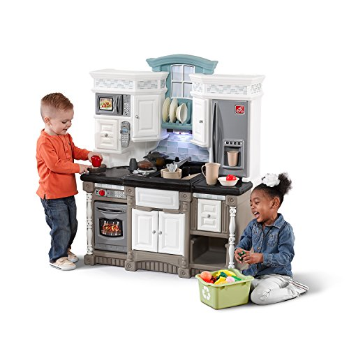 Step2 Lifestyle Dream Kitchen | Plastic Toy Play Kitchen with 37-Pc Accessories Set | Contemporary Kids Kitchen Playset
