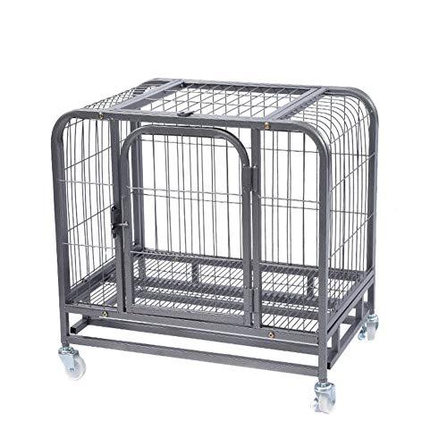 ZZLYY Jaula para Cachorros De Perro, 4 Paneles Resistentes para Cachorros con Bandeja De Piso De Plástico,Plata