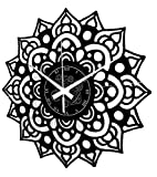 Instant Karma Clocks Reloj de Pared de Vinilo Mandala Flor Artwork Yoga Zen para Cocina salón,...