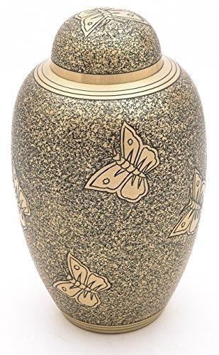 Casket Depot Urne für die Einäscherung, Schmetterling im Flugzeug, Metall